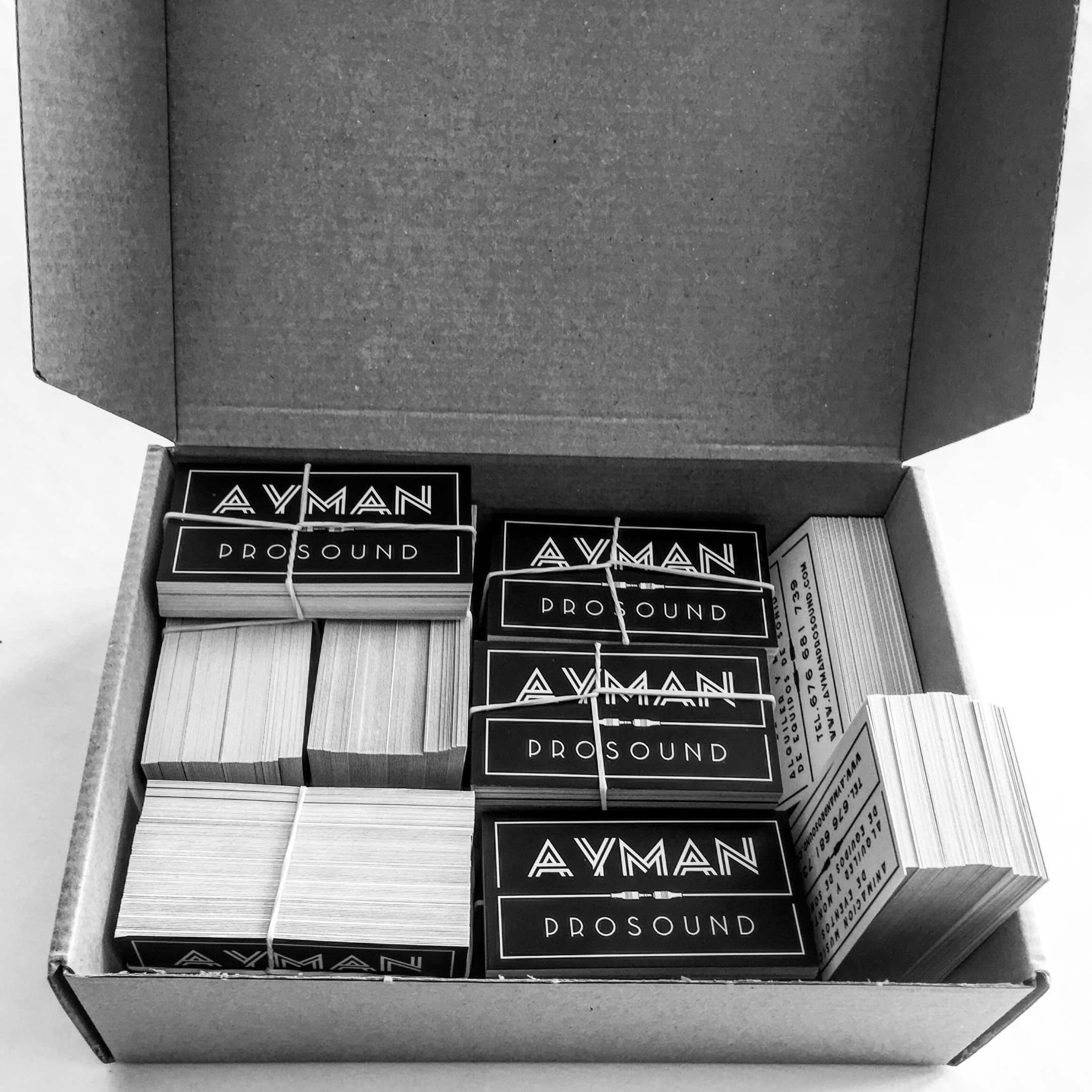 Tarjetas contacto Ayman Prosound